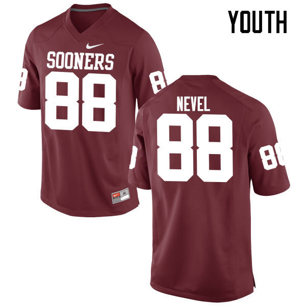 Youth Oklahoma Sooners #88 Chase Nevel College Football Jerseys Game-Crimson