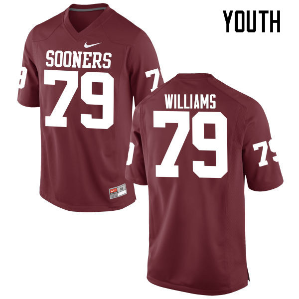 Youth Oklahoma Sooners #79 Daryl Williams College Football Jerseys Game-Crimson