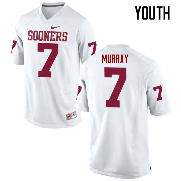 Youth Oklahoma Sooners #7 DeMarco Murray College Football Jerseys Game-White