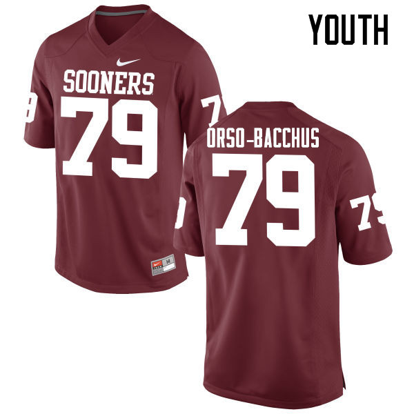 Youth Oklahoma Sooners #79 Dwayne Orso-Bacchus College Football Jerseys Game-Crimson