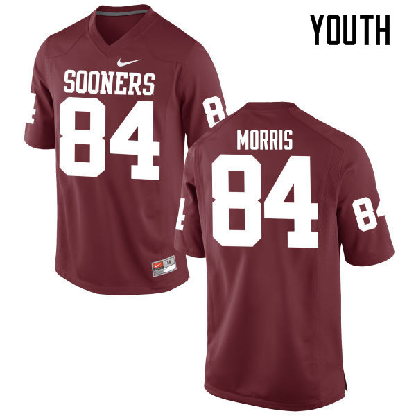 Youth Oklahoma Sooners #84 Lee Morris College Football Jerseys Game-Crimson